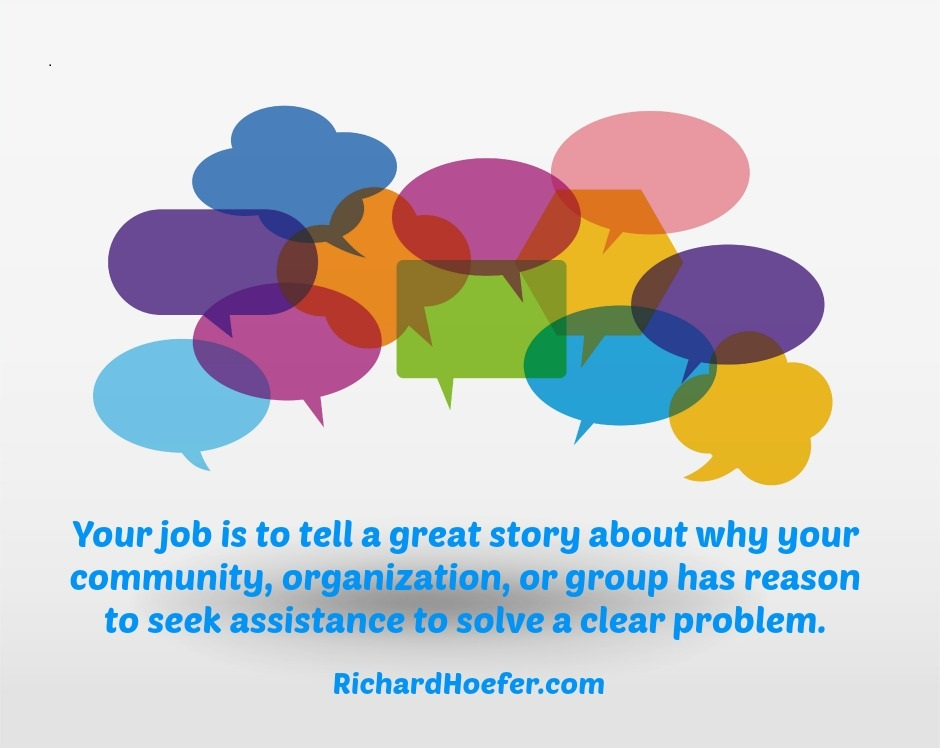 Your job is to tell a story